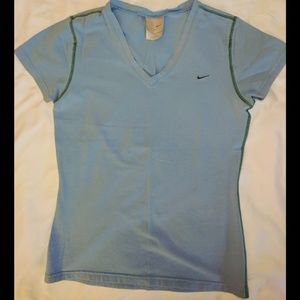Nike V Neck Cotton/Spandex T Shirt